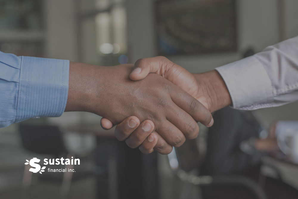 Header images of people shaking hands